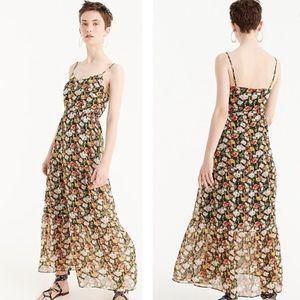 J. Crew | Floral Tiered Maxi Dress Tall Length